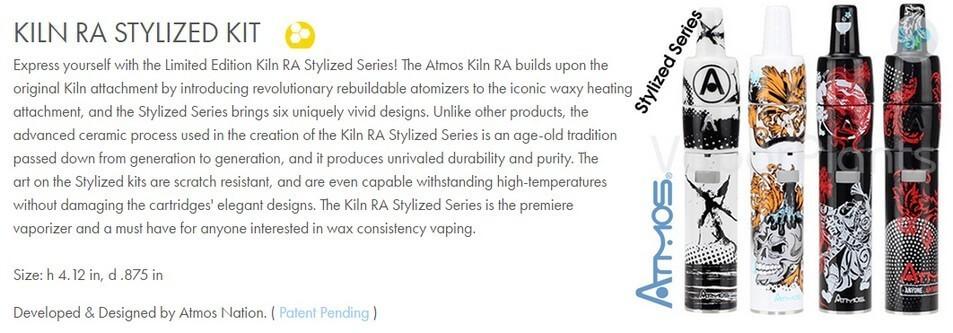 Atmos Kiln RA Stylized Vaporizer Pen Information