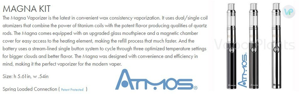 Atmos Magna for Wax and Weed Concentrates Information