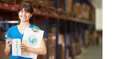Pretty Girl working in VaporPlants Warehouse Shipping Department