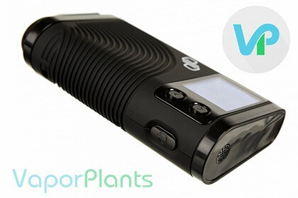 Boundless CFX Vaporizer shown sideways with the power button