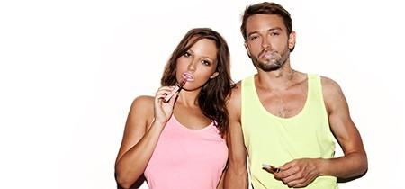 Man and Woman - Couple - Vaping