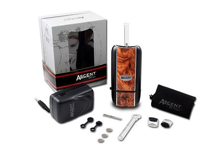 DaVinci Ascent Weed Vaporizer with charger, box and accessories