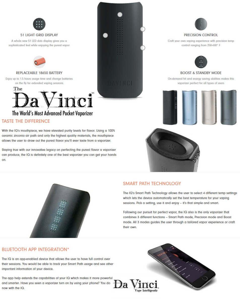 DaVinci IQ Best Vaporizer Info-Graphics