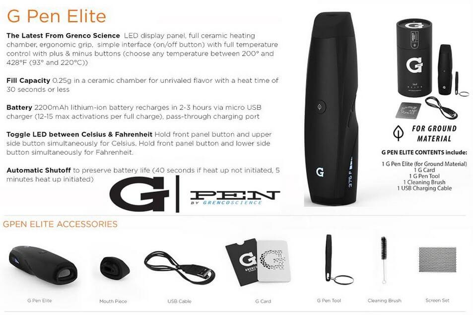 G Pen Elite Vaporizer Ke Features
