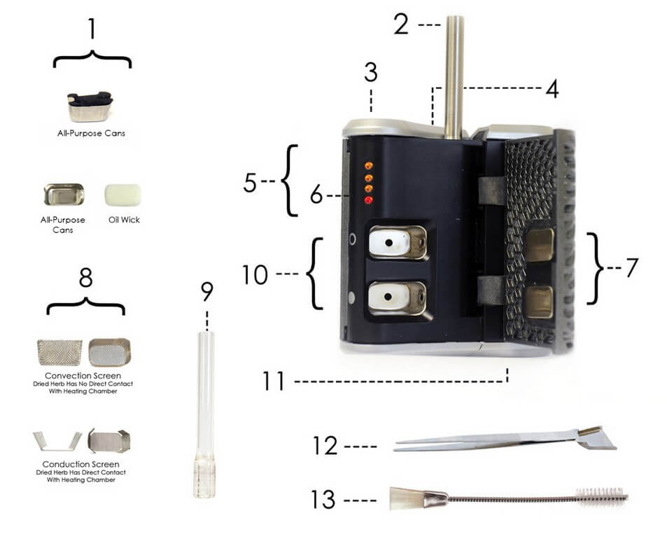 Haze Vaporizer V3 Package Contents