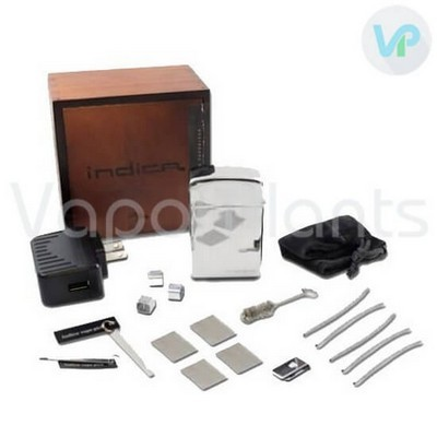 Indica Vaporizer for Dry Herbs Accessories, Parts and a Box