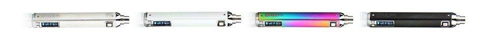 Innokin iTaste VV4 in white, silver, chrome and purple