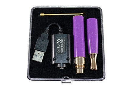 KandyPens Galaxy Purple inside Carrying Case