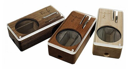 Magic Flight Launch Box for Weed Wooden Colors Side by Side