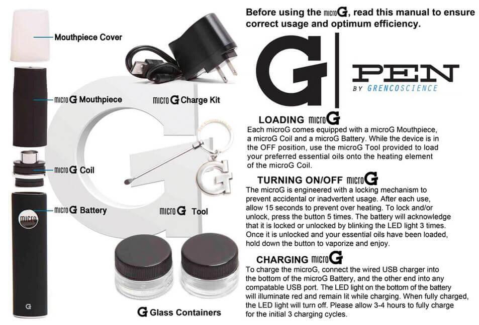 Micro G Pen Dab Pen Manual