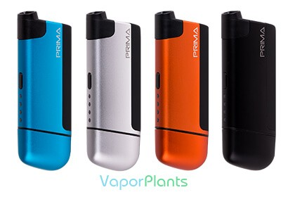 Prima Vaporizer Review in blue, silver, orange and black colors