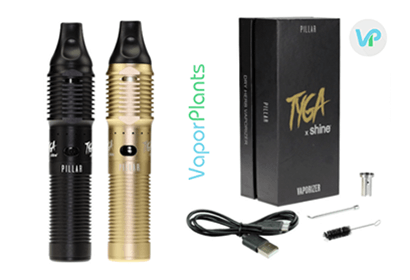 Atmos Pillar kit set, charger, loading tool for wax, cleaning brush and wax container