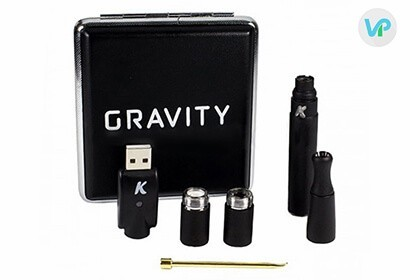 KandyPens Gravity with black case, usb charger, two atomizers and wax tool