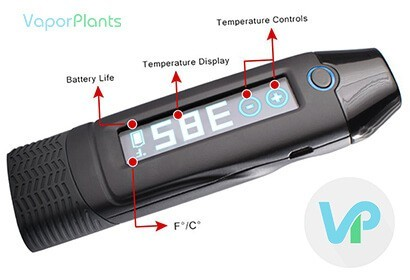 Loki Touch Herbal Vaporizer Screen Features