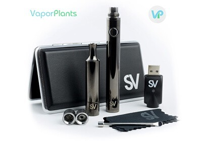 Source Slim 4 with cleaning brush, loading tool, atomizers, carrying case, cleaning cloth and charger