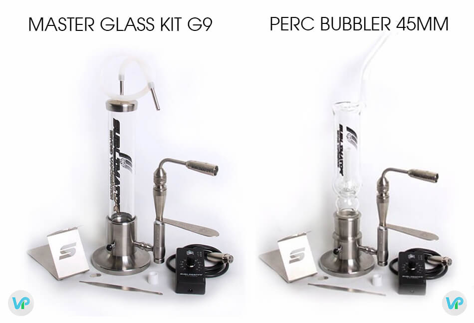 Sublimator Master glass kit, vs Perc Bubbler