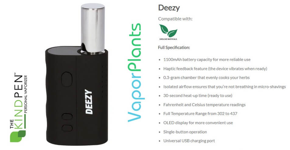 Deezy Dry Herb Vaporizer Information