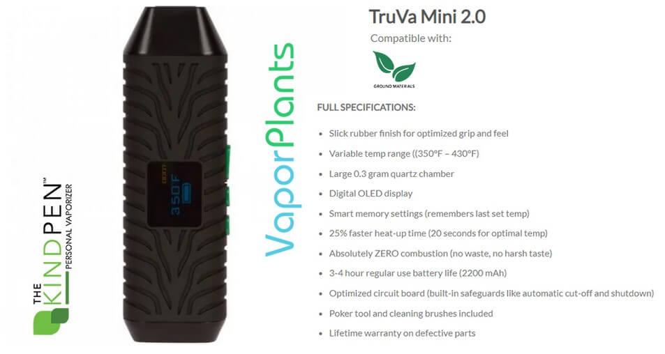 TruVa 2.0 Dry Herb Vaporizer Information