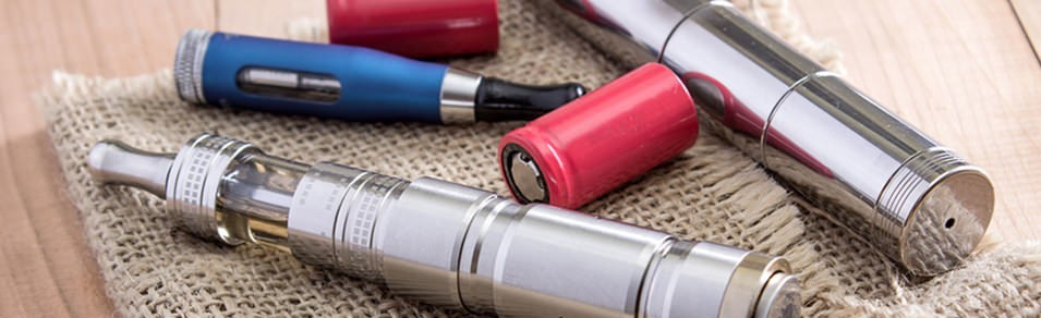 Vape Pens with Batteries on a floor