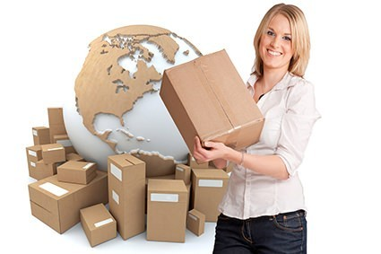 Shipping Policy Woman with Boxes VaporPlants