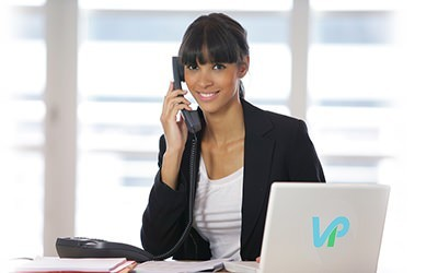 Pretty Girl Delivering talking on the Phone with VaporPlants Customer