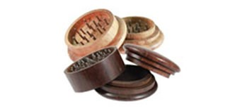 2 and 3 Piece Wooden Herb Grinders